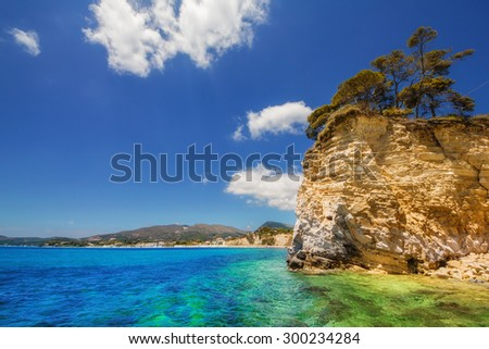 Agios Sostis (Cameo island) in Laganas, Zakynthos - stock photo