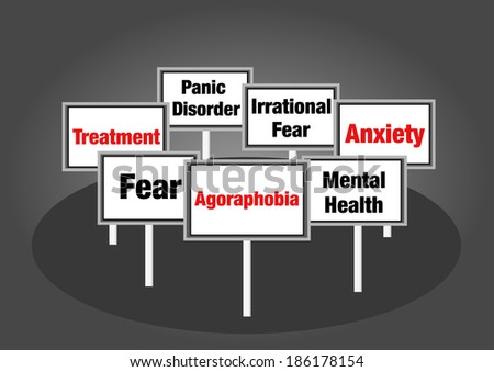 Agoraphobia signs - stock photo