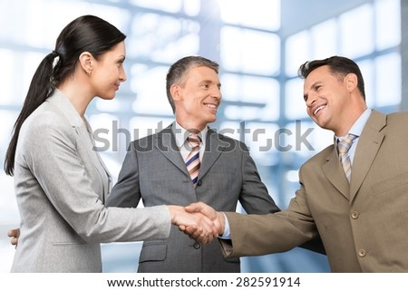 Agreement, body, business. - stock photo