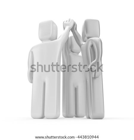 Agreement. Business metaphor. 3d illustration - stock photo