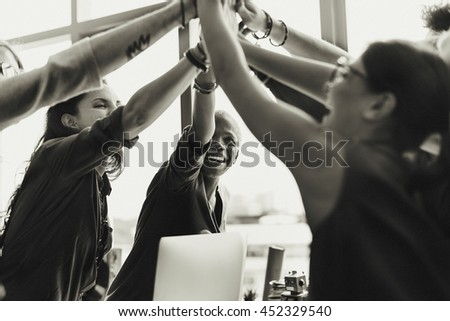 Agreement Cooperation Colleagues Togetherness Concept - stock photo