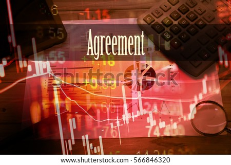 Agreement Hand Writing Word Represent Meaning Stock Photo 566846320