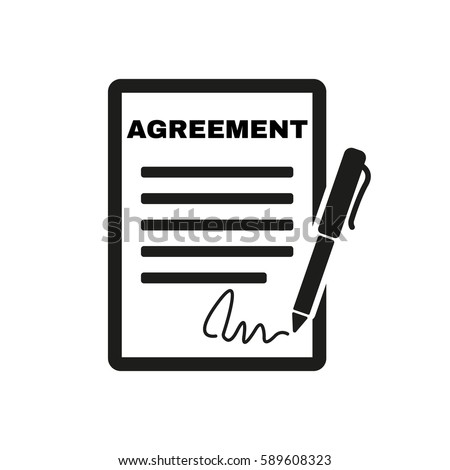 Agreement Icon Contract Signature Pact Accord Stock Illustration