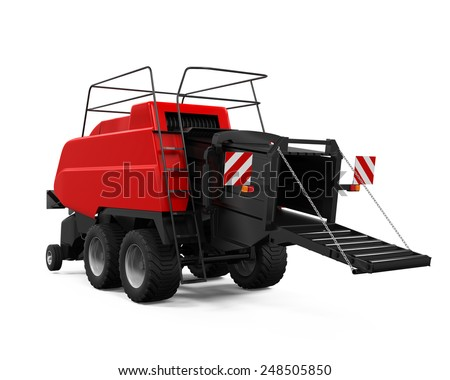 Agricultural Baler Isolated - stock photo