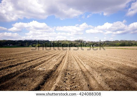 Agricultural farmers empty  field