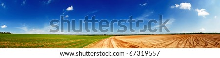 Agricultural fields - stock photo