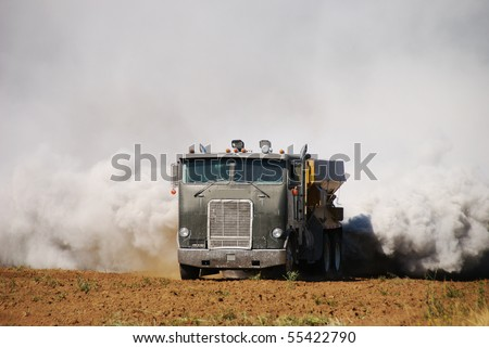 Agricultural lime being spread on a newly created field in the Garden Valley area of Roseburg Oregon.  This operation caused a smoke scare fire response by local fire departments.