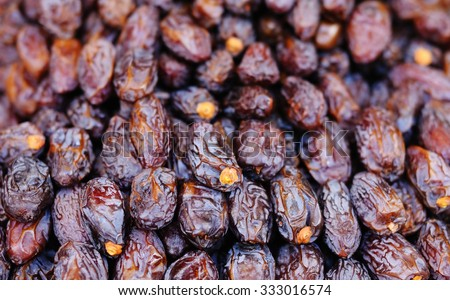 Agricultural market: background of prunes   - stock photo
