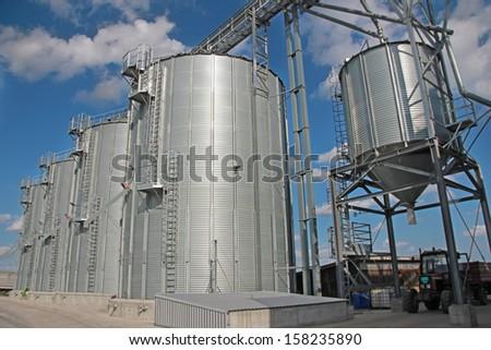Agricultural Silo - Building Exterior - stock photo