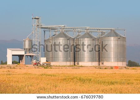 Agricultural Silos, Storage and drying of grains, wheat, corn, soy, sunflower