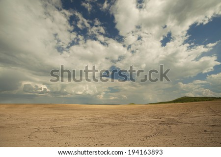 Agriculture field and blue sky
