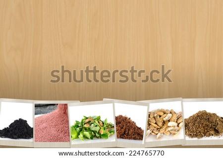 Agriculture mineral and fertilizer slide for Presentation background design - stock photo