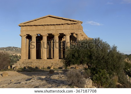 Agrigento temple in Sicily, south of Italy