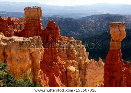 Agua Canyon, Bryce Canyon National park - stock photo