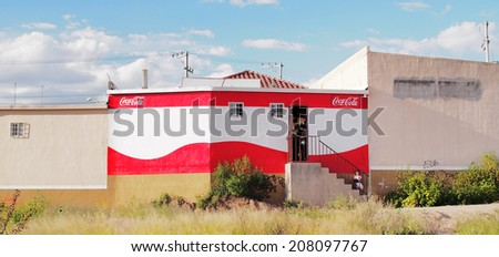 AGUASCALIENTES, MEXICO - OCTOBER 6, 2013: Grocery store in in Fraccionamiento Los Pericos area of Aguascalientes city, which mainly consists of newly developed housing complex.