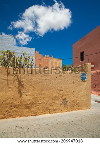 Aguimes, Gran Canaria, best example of traditional Canarian hill own - stock photo