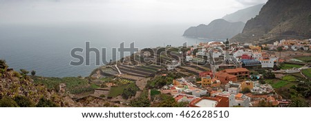 Agulo town, La Gomera, Canary Islands, Spain