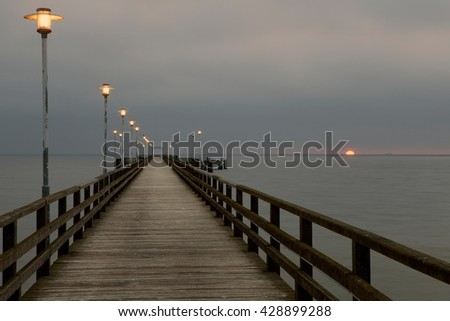 Ahlbeck at Baltic Sea on Usedom Island,Mecklenburg- Vorpommern,Germany. - stock photo