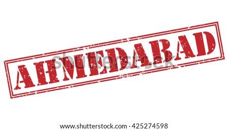 ahmedabad stamp - stock photo