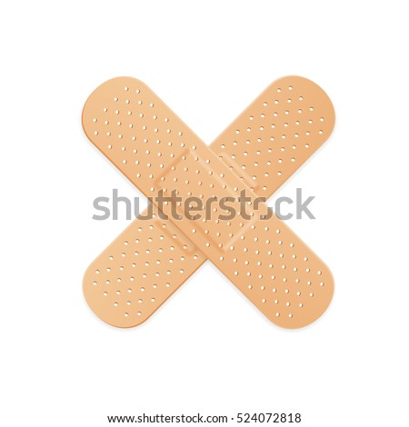 Aid Band Plaster Strip Medical Patch. illustration