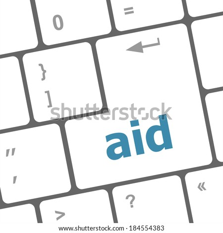 aid word with key on enter keyboard keys