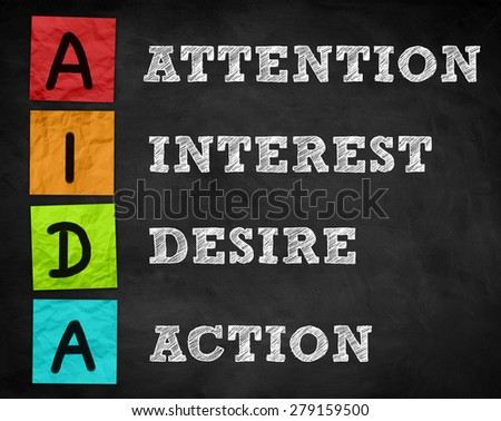 AIDA - marketing concept - stock photo