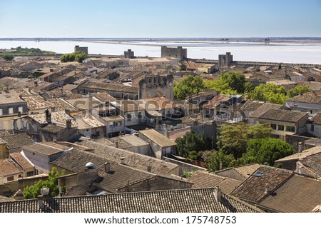 Aigues Mortes is a walled Medieval town in the  Provence, France