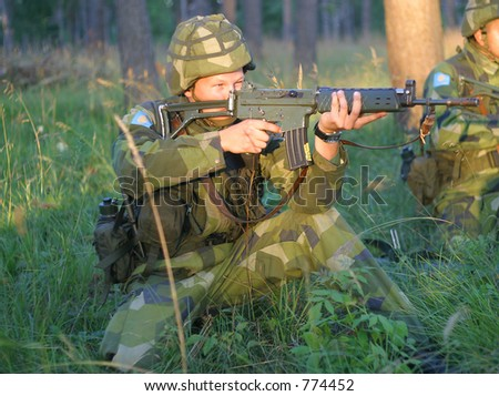 Aim and fire - stock photo