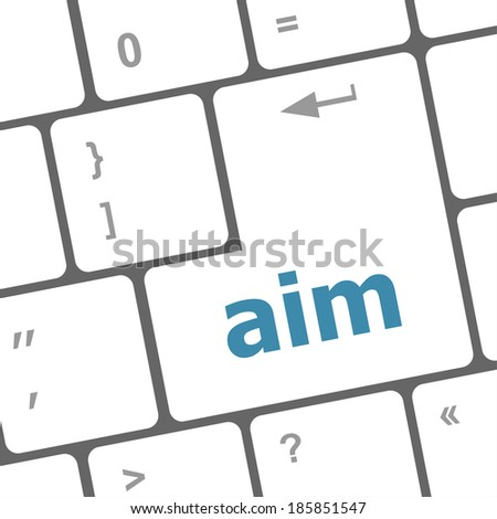 aim word with key on enter keyboard