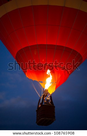 Air balloon in the evening sky - stock photo