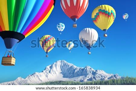 air balloons - stock photo