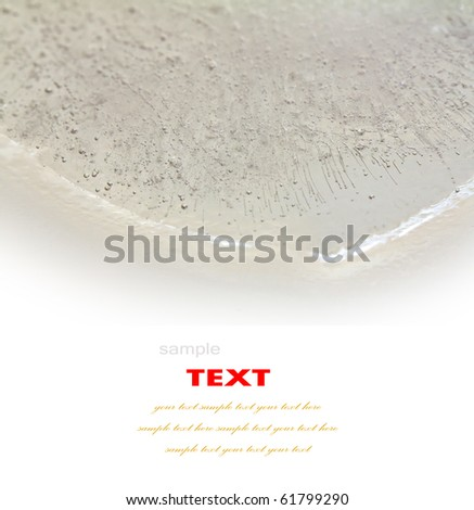 Air bubble in ice on white background - stock photo