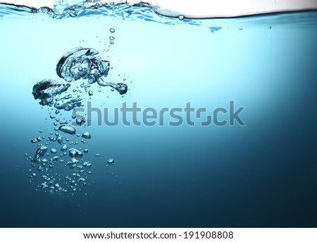 Air bubbles underwater
