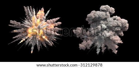 Air burst - stock photo