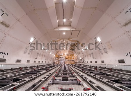 air cargo freighter - stock photo