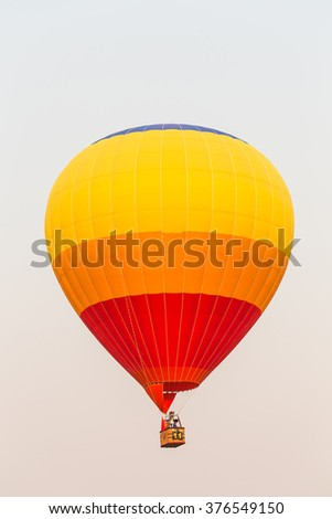 air color balloon blue sky background