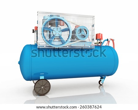 Air Compressor Computer generated 3D illustration - stock photo