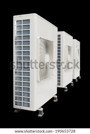 Air compressor on black background. - stock photo