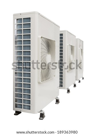 Air compressor on white background. - stock photo