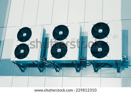 air condition system outdoor unit - stock photo