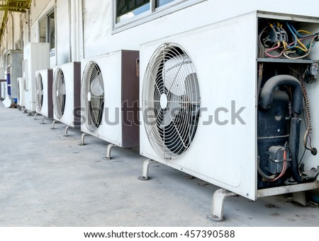 Air Conditioner Compressor Installed Old Building Stock