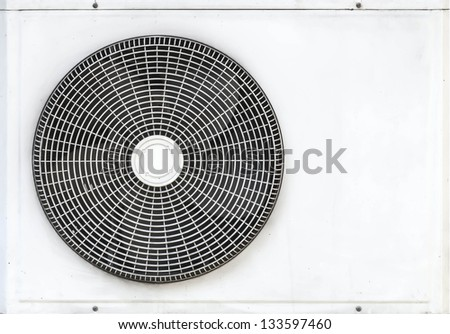 air conditioner fan on white background