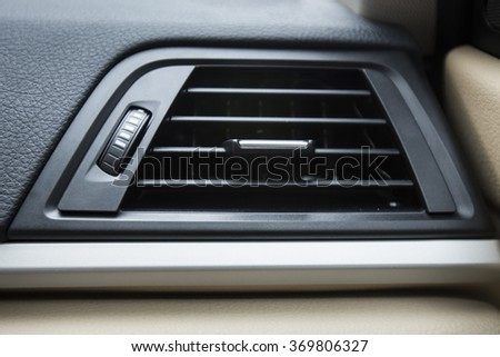 Air conditioner in a car