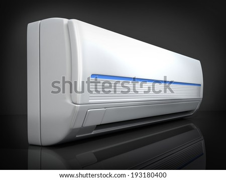 air-conditioner on black background (done in 3d)  - stock photo