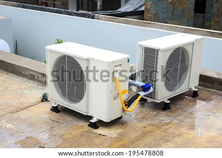Air conditioner on the roof