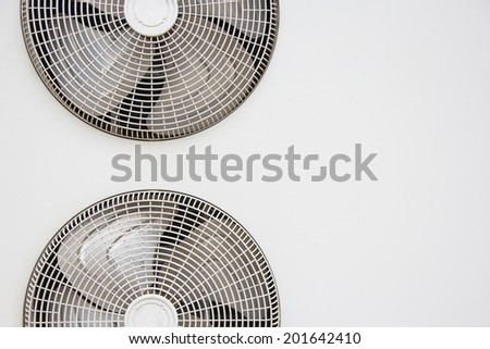 Air conditioner ventilation fan background.