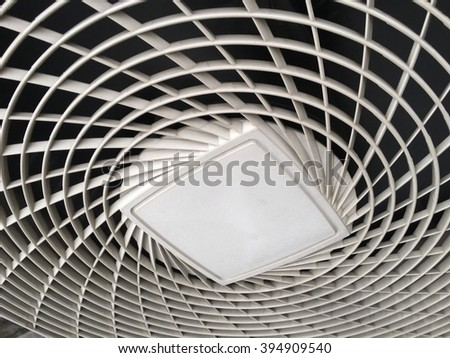 Air Conditioner Ventilation Fan Background / Air Conditioner Ventilation Fan / Close-up Ventilation Fan of Air Conditioner Background - stock photo