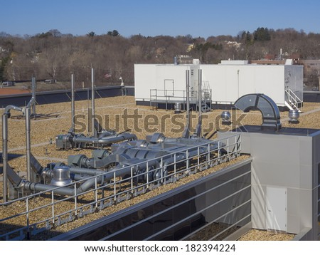 Air conditioning and heating HVAC equipment - stock photo
