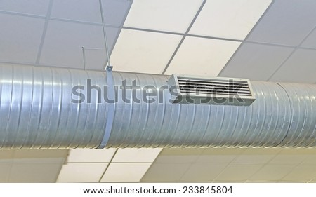 air conditioning and heating with stainless steel nozzle - stock photo