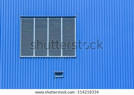 air conditioning or ventilation flap on the blue.